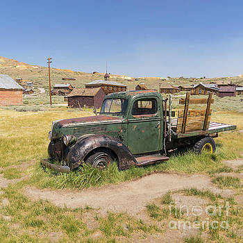 Wingsdomain Art and Photography - Old Truck at The Ghost Town of Bodie California dsc4380sq