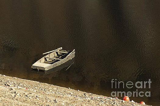BERNARD JAUBERT - Old wooden boat abandoned