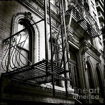 Olde New York - Windows and Fire Escapes by Miriam Danar