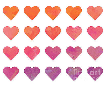 Ombre Hearts by Whitney Morton