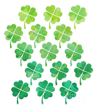 Ombre Shamrocks by Whitney Morton