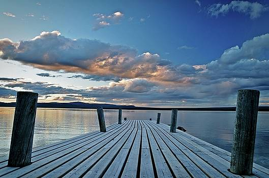 On a wharf in Lapland by Peder Lundkvist