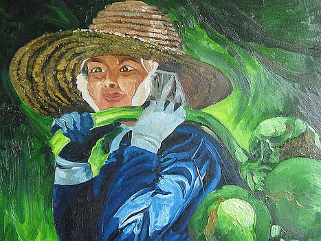 On Coconut Farm by Akhilkrishnajayanth