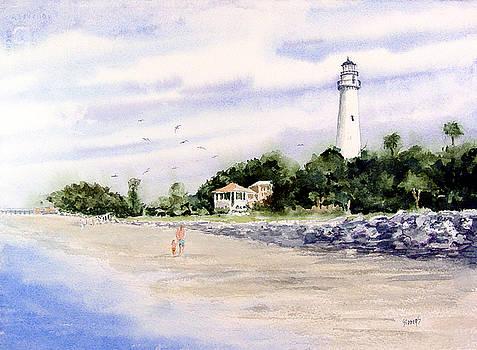On The Beach at St. Simon's Island by Sam Sidders
