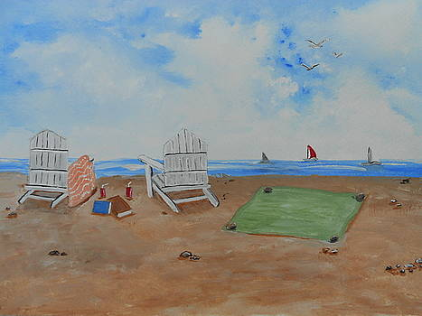 On The Beach by Barbara McNeil