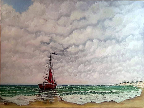 On The Beach SOLD by Richard Benson