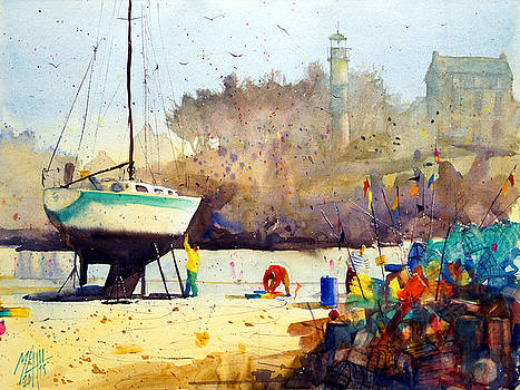On the wharf at Doelan by Andre MEHU