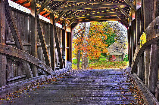 One More Bridge to Cross, Then Home - Poole Forge Covered Bridge No. 6A - Lancaster County PA by Michael Mazaika