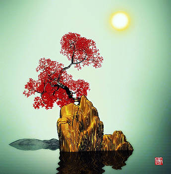 Red tree 2 by GuoJun Pan