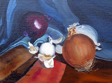 Onions and Garlic by LaVonne Hand