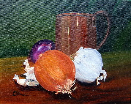 Onions Garlic and Copper by LaVonne Hand