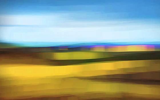 Open Range At Sundown Abstract by Theresa Tahara