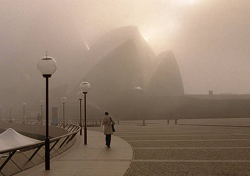 Opera House in the fog by Barry Culling