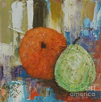 Orange and Pear Combo by Judith Espinoza
