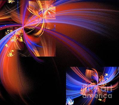 Orange Blue Wishes by Kim Sy Ok