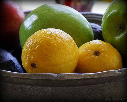 Oranges and Apples in  Bowl by Kathy Barney