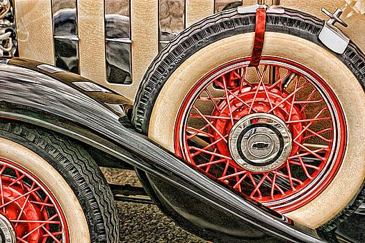 Orange Chevy Wheels by Vicki McLead