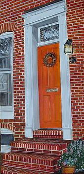 Orange Door Fells Point by John Schuller