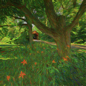Orange Flowers by Lewis Mann