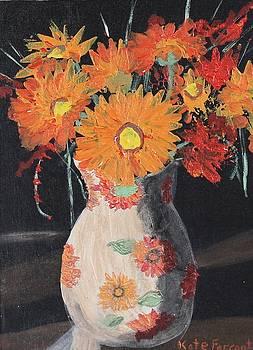 Kate Farrant - Vase of Orange Flowers