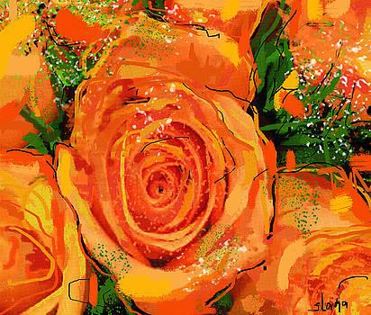 Orange Roses by Sladjana Lazarevic