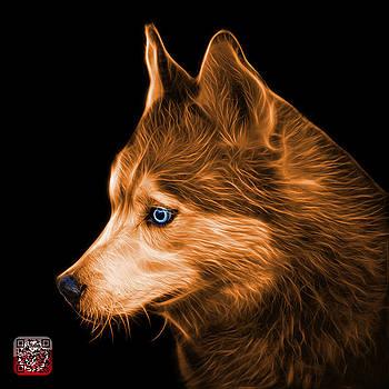 Orange Siberian Husky Art - 6048 - BB by James Ahn