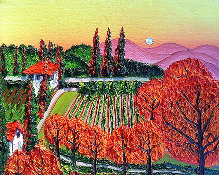 Orange Side Of Tuscany 2A by Portland Art Creations