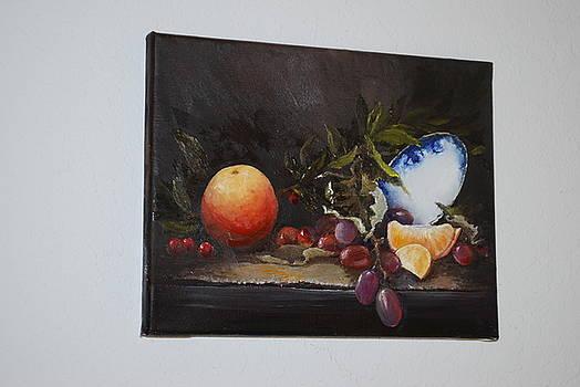 Orange Still Life by Patti Lane