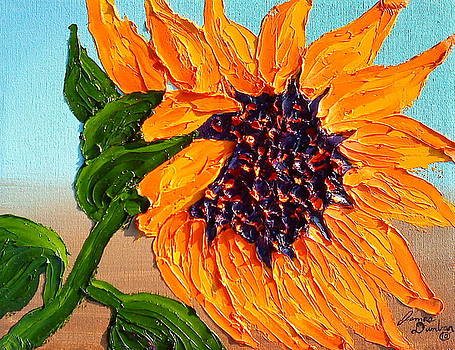 Orange Sunflower 10 by Portland Art Creations