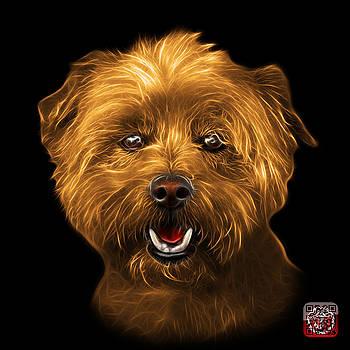 Orange West Highland Terrier Mix - 8674 - BB by James Ahn