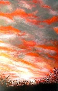 Orangey sky by Marie-Line Vasseur