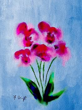 Orchids Abstract by Frank Bright