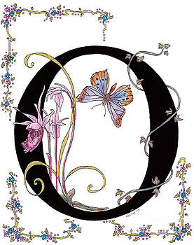 Stanza Widen - Orchids and Common Opal Butterfly