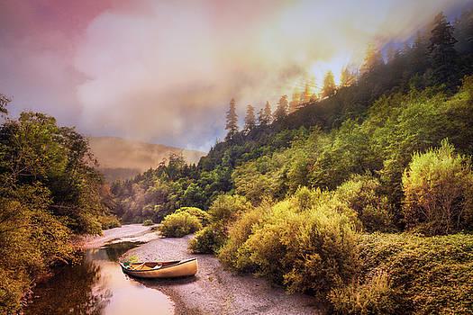 Oregon Mountain River by Debra and Dave Vanderlaan