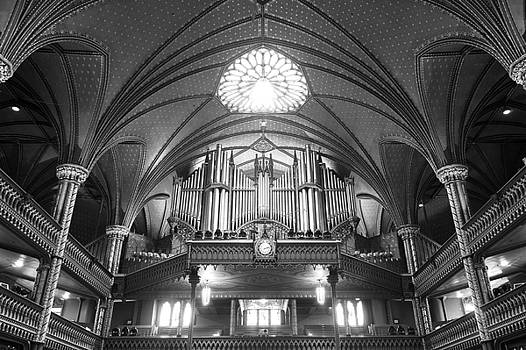 Organ Inside The Notre Dame Montreal by For Ninety One Days