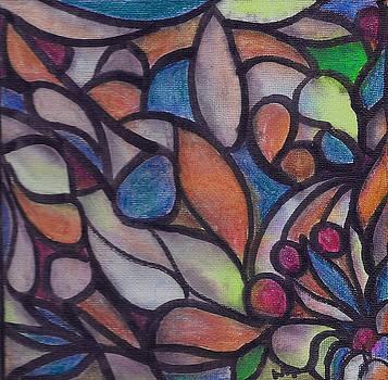 Organic Astract on Canvas 1 by Wayne Potrafka