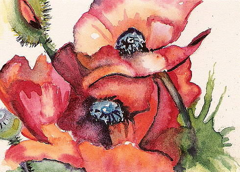Oriental Poppies by Marsha Woods