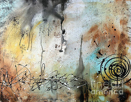 Original Abstract Acrylic Painting on Canvas Desert Surroundings by Megan Duncanson by Megan Duncanson