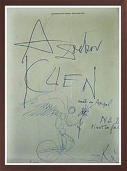 Original Dali Drawing By Dali by Salvador Dali