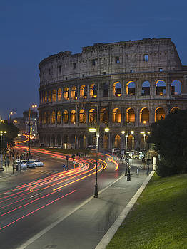 Original facade of The Colosseum Rome Italy by Ayhan Altun