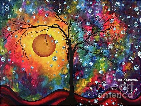 Original Vibrant Abstract Landscape Painting for Sale by Megan Duncanson by Megan Duncanson