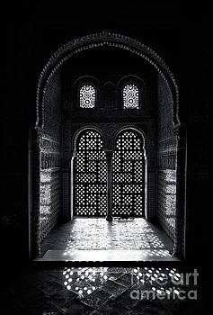 Ornate Alhambra window by Jane Rix