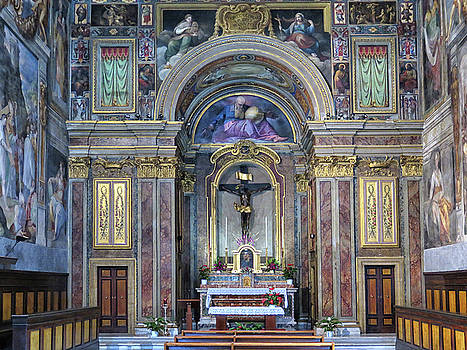 Ornate Church in Florence by Dave Mills