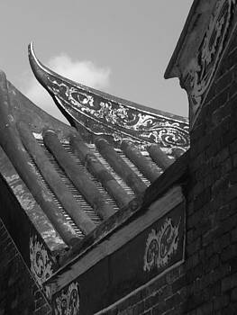 ornate Roof Chinese Temple old by Kathy Daxon