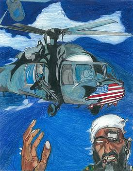 Osama Defeated by an Artist by Justin Chase