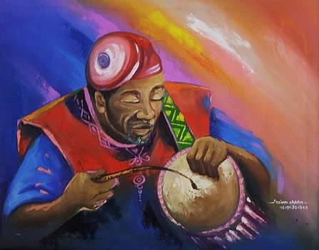 Oti Gba Yoruba Drummer by Eziagulu Chukwunonso