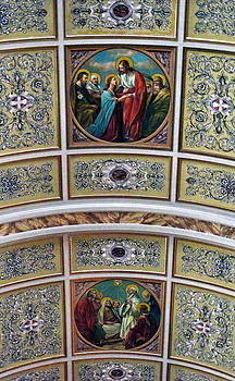 Our Lady of Pompei Church Ceiling by Dave Mills