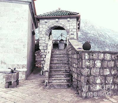 Our Lady Of The Rocks Staircase by Ann Johndro-Collins