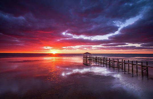 Outer Banks Duck North Carolina Sunset Seascape Photography OBX by Dave Allen