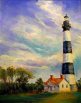Outer Banks Lighthouse by Lynee Sapere